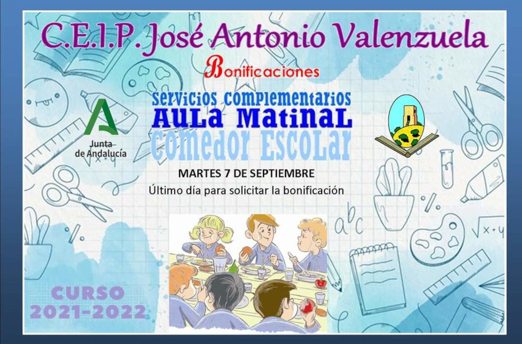BONIFICACIONES SERVICIOS COMPLEMENTARIOS   CEIP JOSE ANTONIO VALENZUELA 1