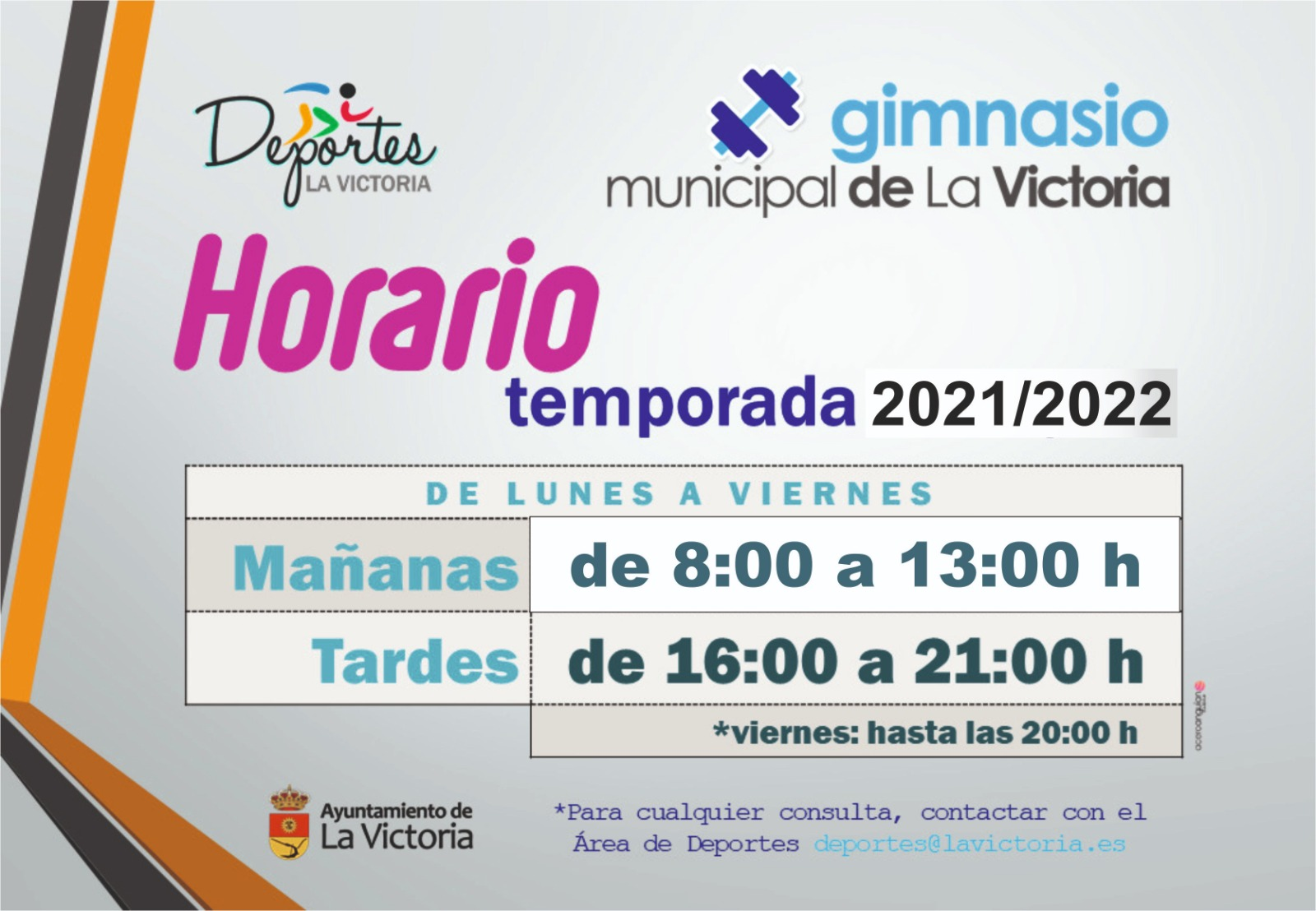 HORARIO DEL GIMNASIO 1