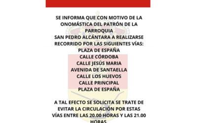 19 de OCTUBRE 2021   ONOMÁSTICA PATRÓN DE LA PARROQUIA SAN PEDRO ALCÁNTARA